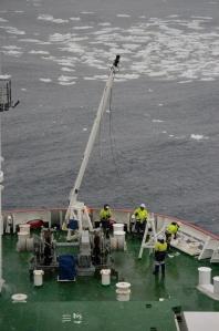 Lowering the Mast