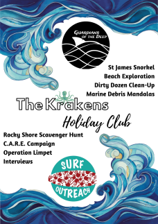 Guardians.Surf Outreach Holiday Club Poster