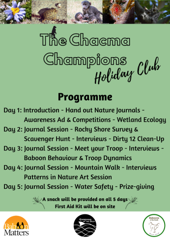 The Chacma Champions - Holiday Club Programme